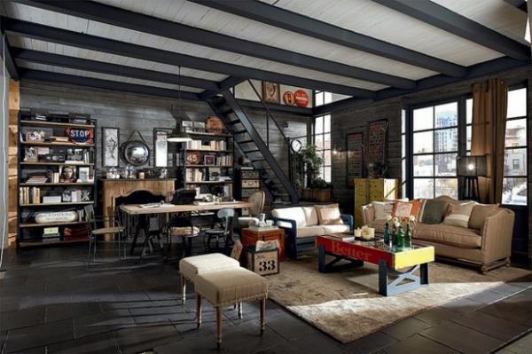 Ausgefallene Designmöbel abgehängt decke sofa couchtisch