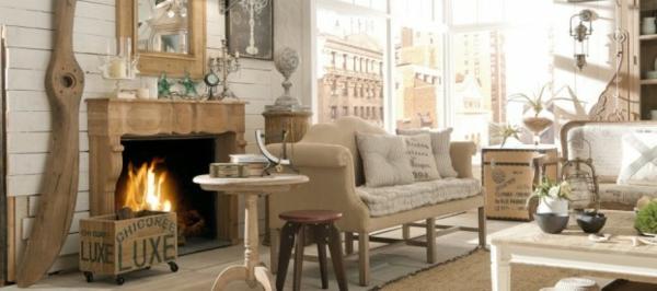 extravagante Möbel Designs einbaukamin sofas kissen