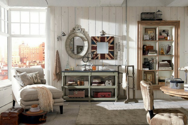 Ausgefallene-Möbel-Designs-platten-holz-wandspiegel