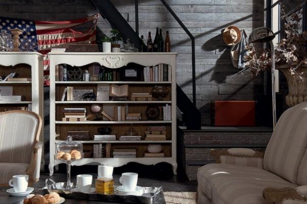 Ausgefallene Designmöbel regale klassisch weiß holz