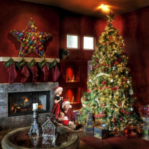 Weihnachtsbaum Tradition.Den Weihnachtsbaum Schmücken Sind Sie Bereit Für Die Weihnachtsparty