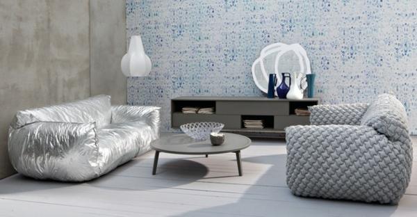Designer Sofa mit abnehmbarem Bezug austronaut glanzvoll