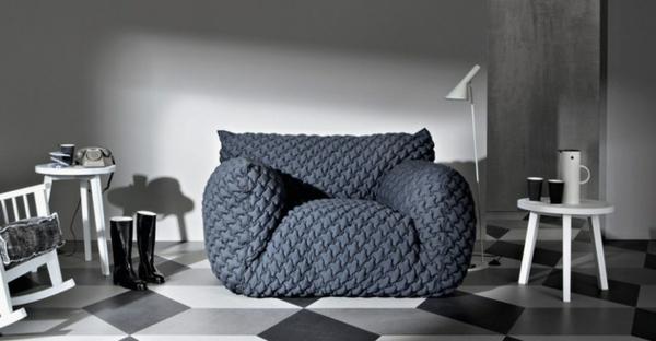 Designer Sofa mit abnehmbarem Bezug weiß beistelltisch