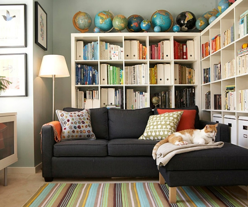Die b cherregale richtig und schick anordnen elegante for Small reading room design ideas