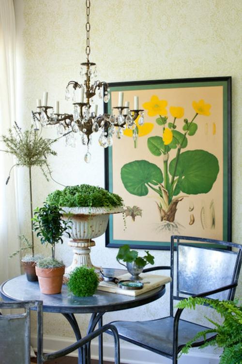 Die Zimmerpflanze Bubikopf schafft grüne Akzente gemälde kronleuchter