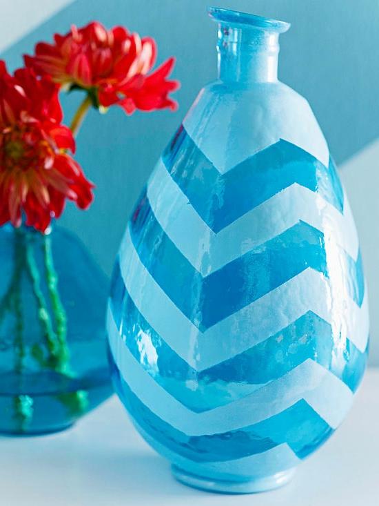 Handgemachte Weihnachtsgeschenke Freunde glas blumenvasen chevron