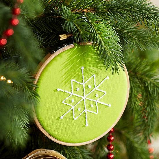 Weihnachtsgeschenke selber machen Freunde reif rahmen schneeflocke