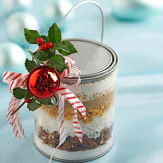 Handgemachte Weihnachtsgeschenke kuchen plätzchen mix