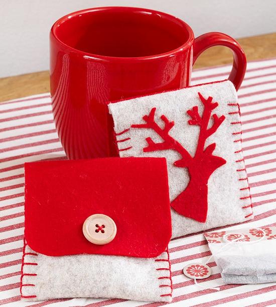 Handgemachte Weihnachtsgeschenke warm teebäutel