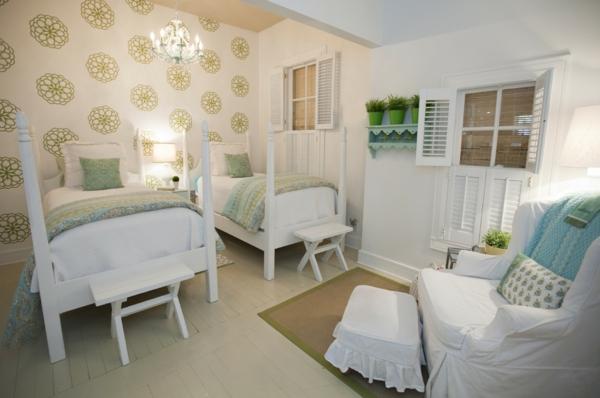 Innovative Einrichtungsideen wandgestaltung betten schlafzimmer