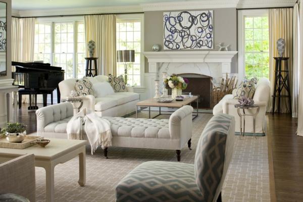 Klassische Möbel fürs Wohnzimmer   traditionelle Einrichtungsideen
