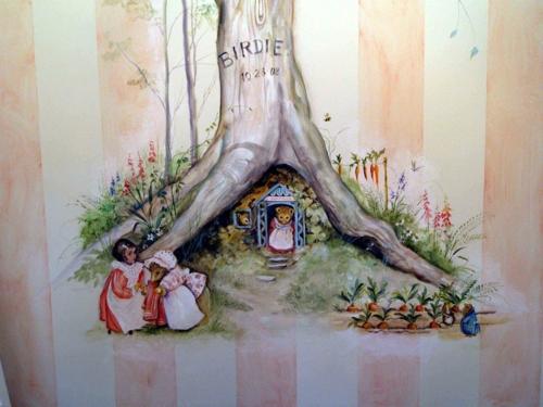 Kreative  Wanddekoration maus im haus märchenhaft wandmalerei