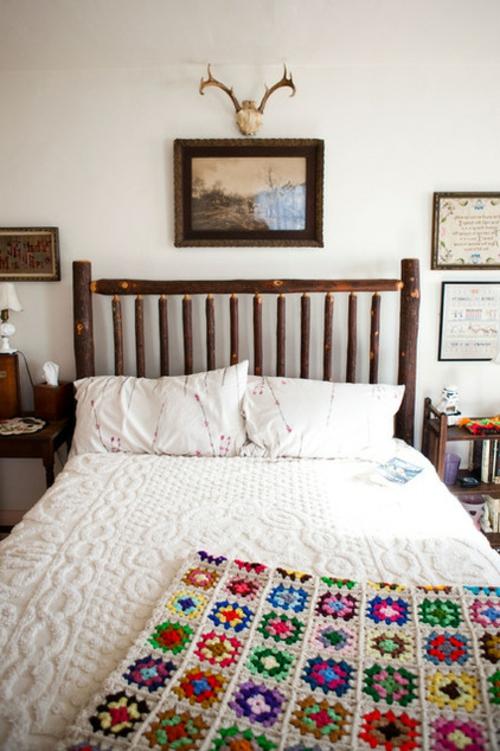 Kuschelige Dekostoffe und Heimtextilien eklektisch schlafzimmer kopfteil