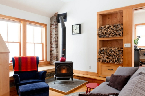 Kuschelige Dekostoffe und Heimtextilien kaminofen brennholz