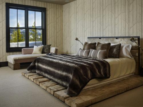 Kuschelige Dekostoffe und Heimtextilien rustikal schlafzimmer bettwäsche