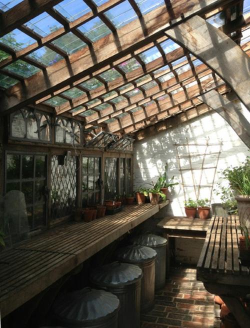 MagMagischer englischer Stadtgarten gestaltung wintergarten glasdach