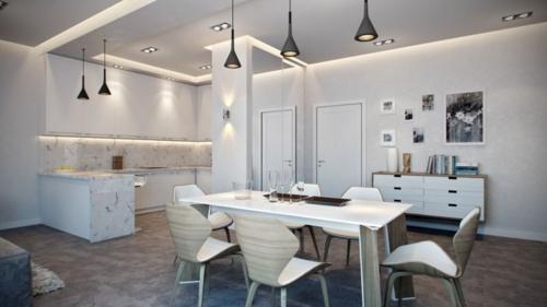 Apartment mit atemberaubender Inneneinrichtung esstisch esszimmer