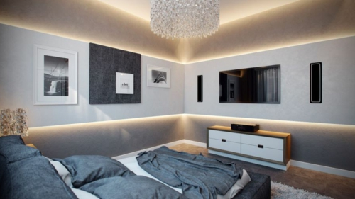 Beleuchtung Wohnzimmer Modern: Wandleuchte W Led Licht Wand ... Indirekte Beleuchtung Wohnzimmer Modern