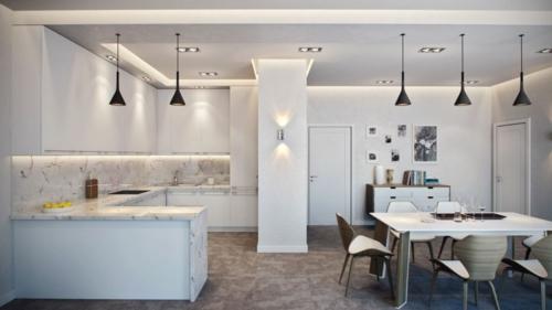 modisches Apartment mit atemberaubender Inneneinrichtung küche