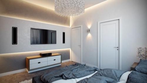 Apartment mit atemberaubender Inneneinrichtung kleiderschrank