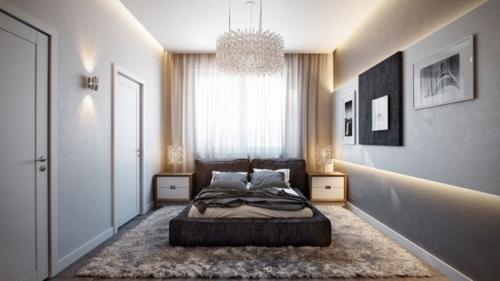 trendy Apartment mit atemberaubender Inneneinrichtung minimalistisch