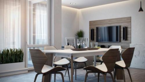 modisches Apartment mit atemberaubender Inneneinrichtung neutral esszimmer