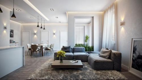 Modernes apartment mit atemberaubender inneneinrichtung in for Moderne deckenbeleuchtung wohnzimmer