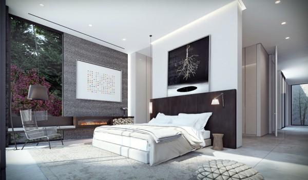 markant wandgestaltung schlafzimmer modern Plan