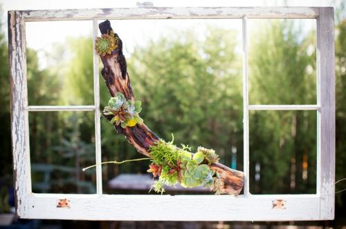 Schöne Dekoration aus Treibholz selber machen fenster natur umgebung