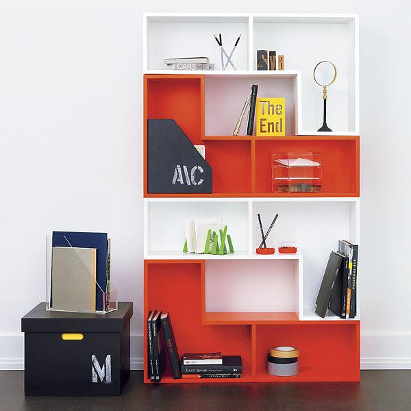 Schickes Homeoffice Design regale modular orange