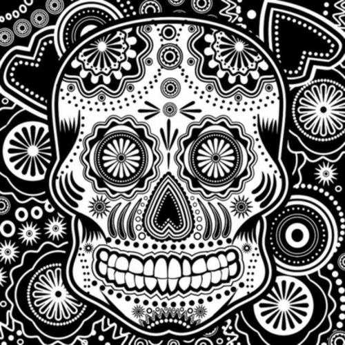 Totenkopf Dekoration zu Halloween eklektisch accessoires poster