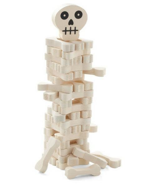 Totenkopf Dekoration zu Halloween struktur konstruktion stapelspiel