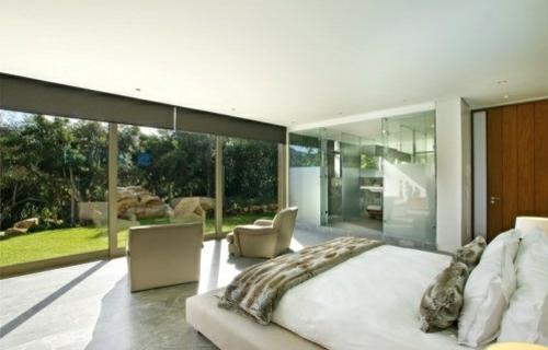 Wellness-Einrichtung zu Hause schlafzimmer hell atmosphäre