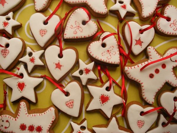 advent bescherung weihnachten lebkuchen plätzchen deko rot