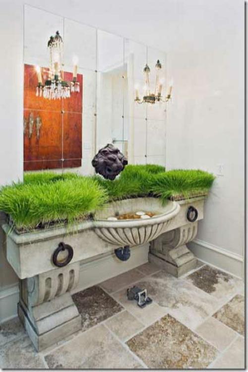 Attraktive Badezimmer Design Anpflanzen Kronleuchter Kerzen