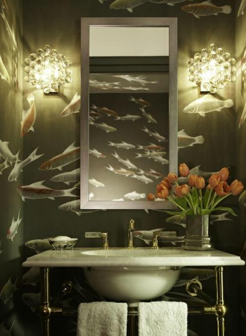 attraktive Badezimmer Design wandgestaltung dekoration meer