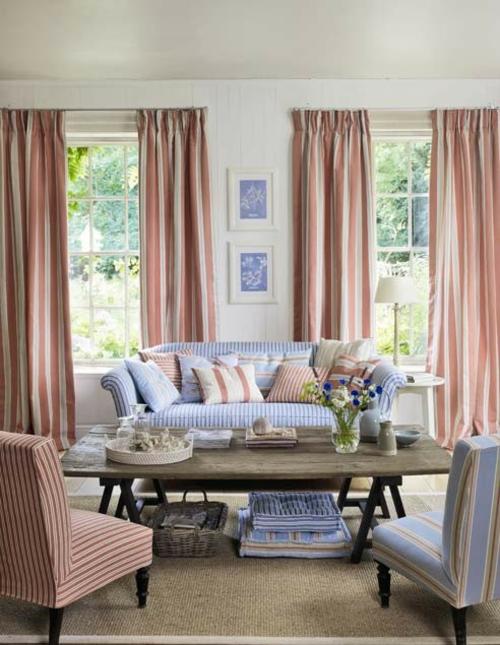 blumenmuster gardinen sofa streifen traditionell heimtextilien