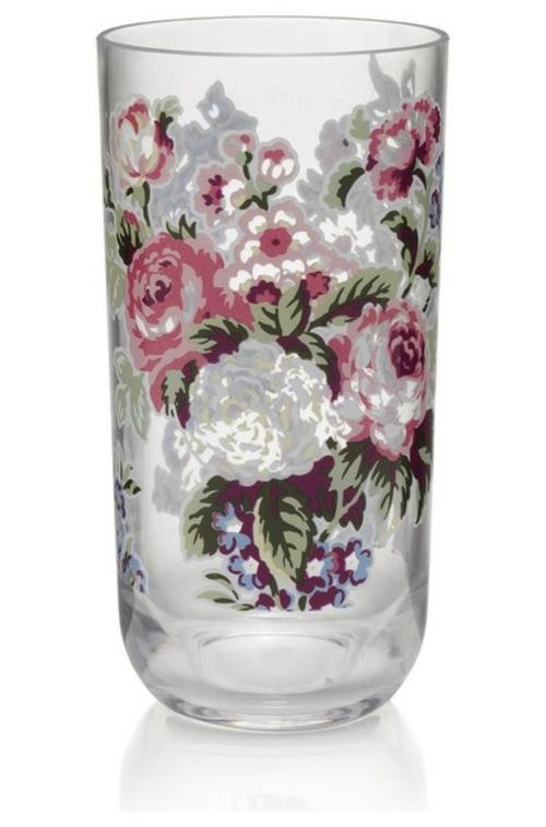 coole Accessoires im englischen Stil glas blumenmuster