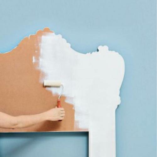 deko idee im schlafzimmer selbermachen pappe material färben