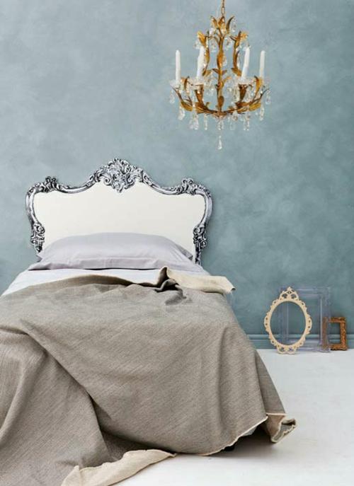 kreative deko idee im schlafzimmer kopfteil zum selbermachen. Black Bedroom Furniture Sets. Home Design Ideas