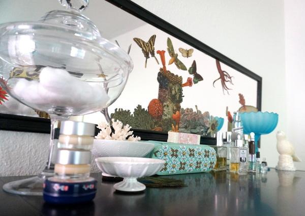 deko tricks ideen wohnung eitelkeit zu hause parfume muster