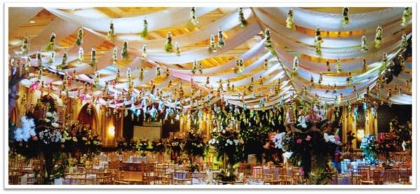 dekoration hochzeit idee design gelb weiß decken