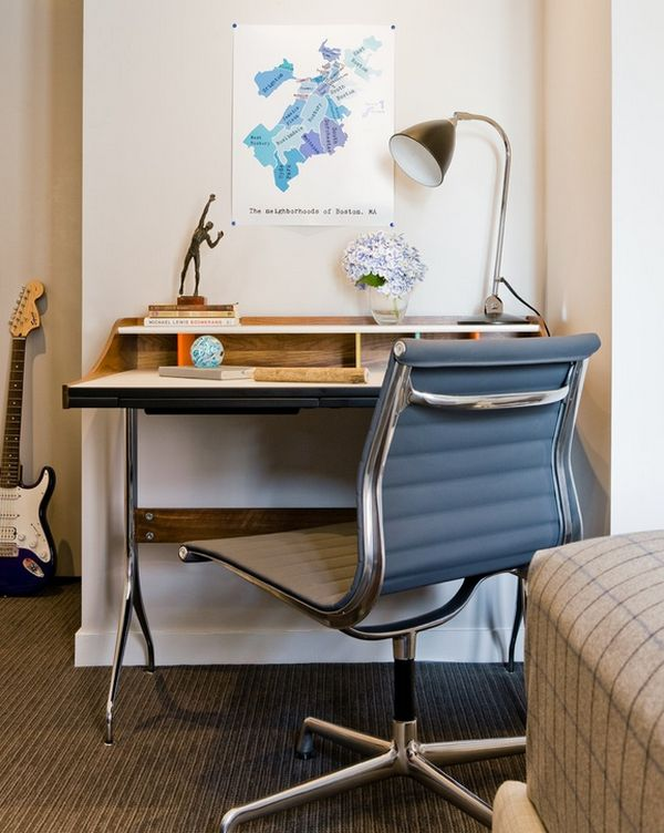Designer b ro wie sieht der moderne arbeitsplatz for Schreibtisch platzsparend