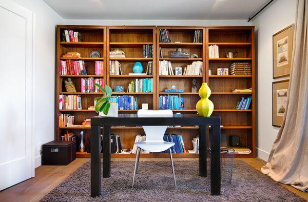 designer büro parsons desk holz bucherregal