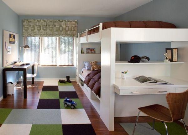 designer büro parsons desk schlafzimmer sonnenlicht