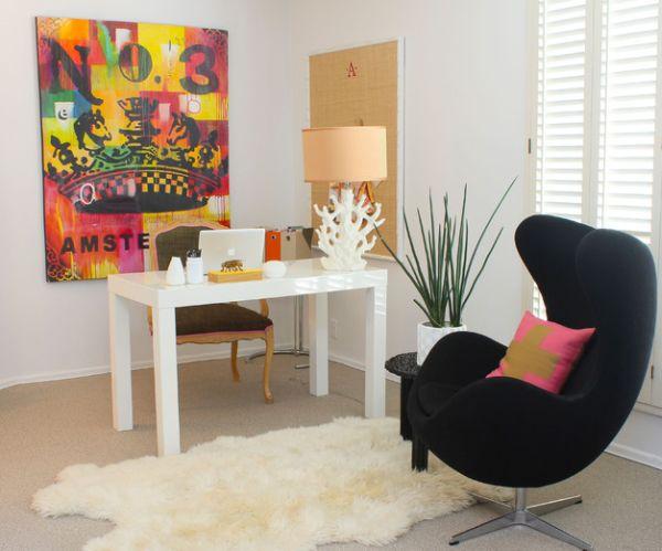 designer büro parsons desk weiß wandgemäldesessel