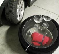Designer Couchtisch von Tavomatico – wie man aus alten Reifen ein stylisches Möbelstück herstellt?