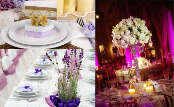 erstaunliche Hochzeit im Herbst farben tischdeko lila violett