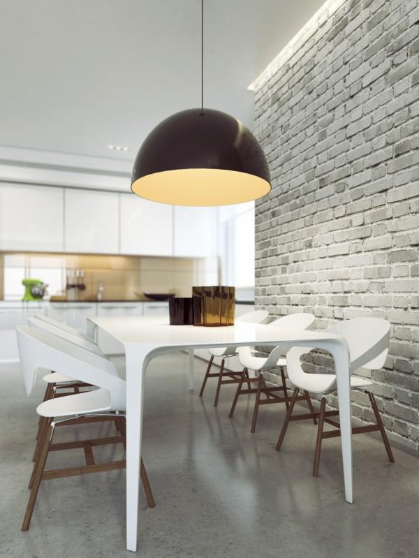 Wandgestaltung Esszimmer Modern: In Sandsteinoptik Wirken, Wohnzimmer Design