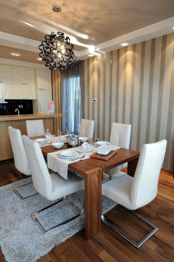 exklusive penthousewohnung breit gestreifte wände